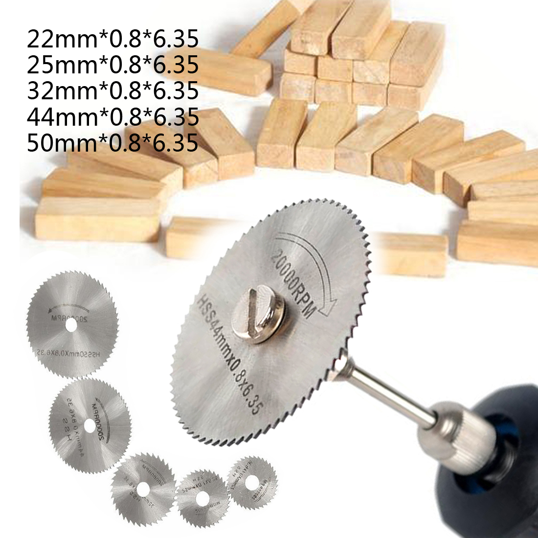 Hss High-speed-steel Circular Rotary Circular Saw Blades Mandrel For Tools Wood Cutting Saw Blades