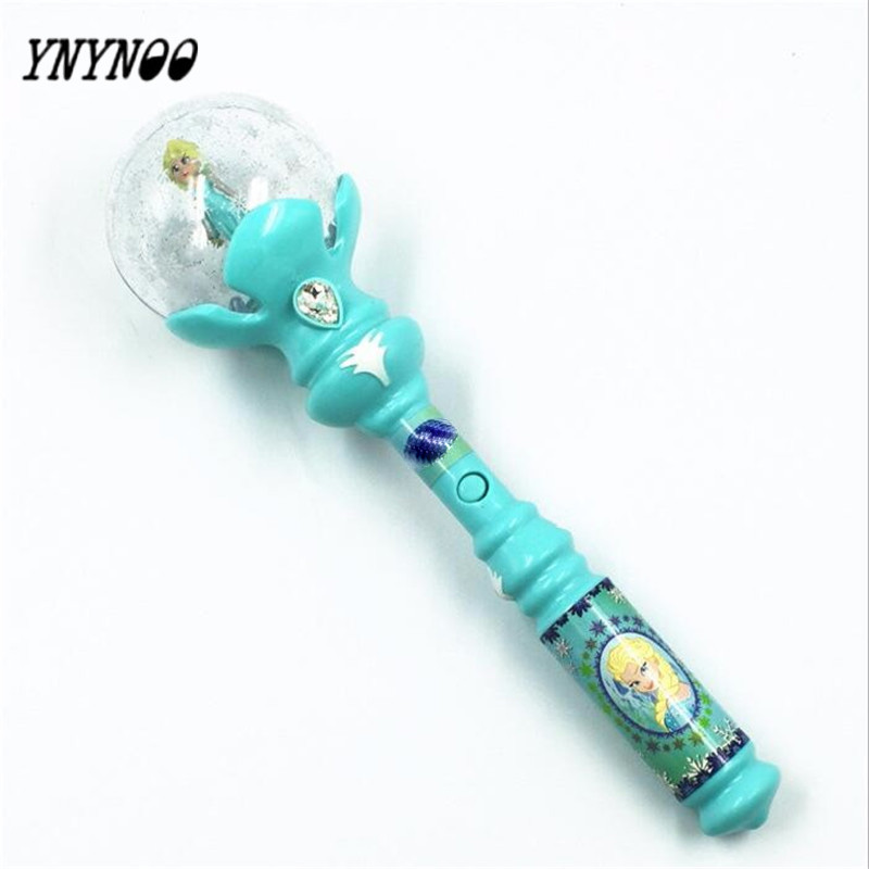 YNYNOO Light Up Toys Kids Elsa LED Magic Wand Music Let It Go Snow Queen Glow Led Toys Juguetes Con Luces Led Light Sticks Toys парфюмерная вода magic queen natural instinct парфюмерная вода magic queen