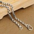 4 мм реальные чистого серебра ожерелье ручной работы 925 серебряное ожерелье дизайнер старинных серебро дордже Neckace для ожерелье