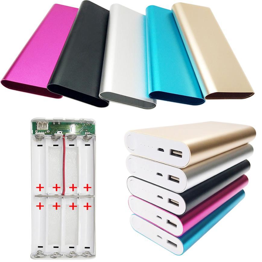 Binmer 5 V 2A USB 8X18650 DIY Portable Batterie Chargeur Titulaire Kit Power Bank Cas Boîte JA03 Baisse gratuite
