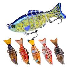 YUYU Fishing Lure 10cm 16g 3D Eyes 6 Segment Lifelike Hard Lure Crank bait Sinking Wobblers 2 Hook Fishing Baits Pesca Cebo