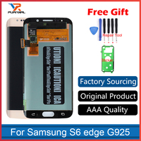 Original Super AMOLED LCD Display For Samsung Galaxy S6 Edge G925F G925I Touch Screen Digitizer Parts