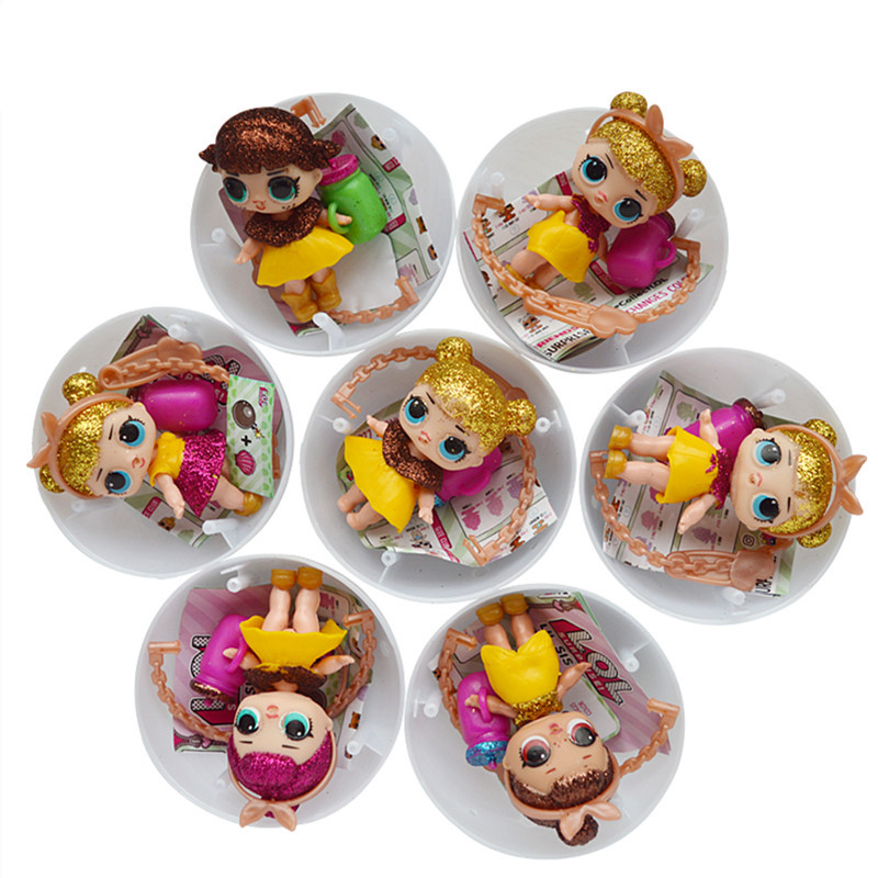 3/6Pcs/Set Funny boneca LOL POP DOLL Removable Egg Ball Doll Toy Baby Tear Open Color Change Action Figure Toy girl Novelty gift