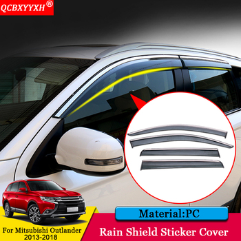 QCBXYYXH Car styling Awnings Shelters Window Visors Sun Rain Shield Stickers Auto Accessories For Mitsubishi Outlander 2013-2018