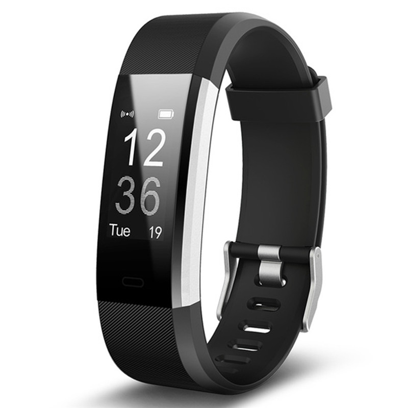 Smart Wristband OLED Screen Fitness Tracker Men Sport Bracelet Heart Rate Monitor Sleeping Monitor Silicone Strap Women Watches new original xiaomi amazfit smartband bluetooth oled touch screen smart wristband fitness tracker heart rate monitor for phone
