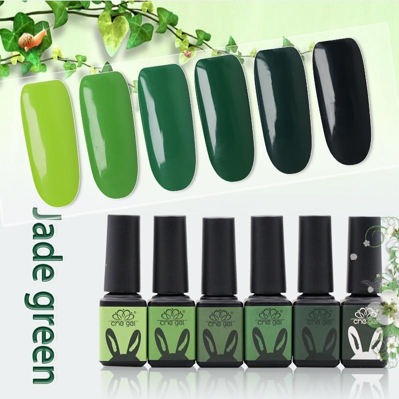 Che Gel Jade Green Summer Nail Polish Gel Varnish Soak Off Lacquer ...