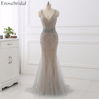 2018 Evening Dress Erosebridal Beading Prom Party Gowns Robe De Soiree Backless Vestido De Festa Formal