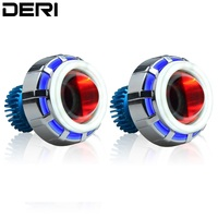 18W LED Projector Lens Headlamp Kit With Blue Angel Eagle Red Devil Eye For Car Styling