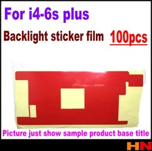 100pcs red backlight Sticker Film for iPhone 4 5 6s 4.7 6S plus Back sticker refurbished backlight sticker film just the film