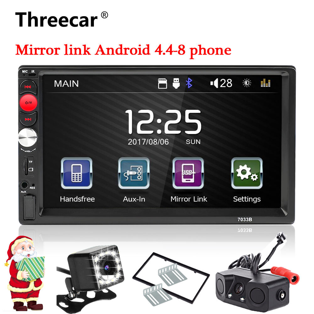 Mirror Link 2din car radio 7 HD Touch Screen Audio Stereo Bluetooth Video MP5 Multimedia Player