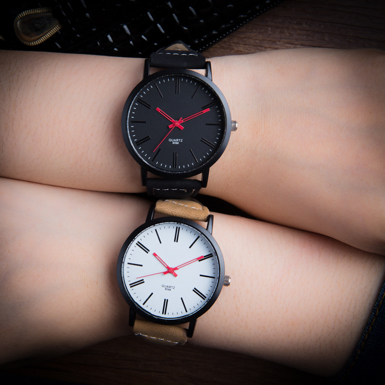 New Brand Lovers Casual Quartz Leather Watch Hollow Out Red Pointer Lady's Wristwatch Women Men Dress Clock Relogio Masculino 2017 new brand binger quartz watch lovers wristwatches women men leather dress wristwatch relogio fashion casual quartz watches