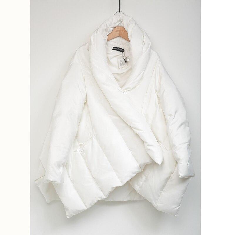 Taille 2018 star Et Blanc Doudoune Manteau All Style Femmes Collier Conception Chaud Lâche 90 Grande Souple Outwear Même Parkas CCFwHqrnO
