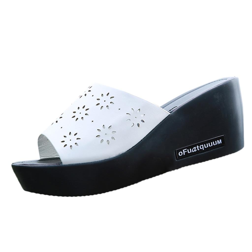 Outdoorsanda Slipper Blume Strand Damen Schuhe Outdoor Neu Wedge Heels einfach