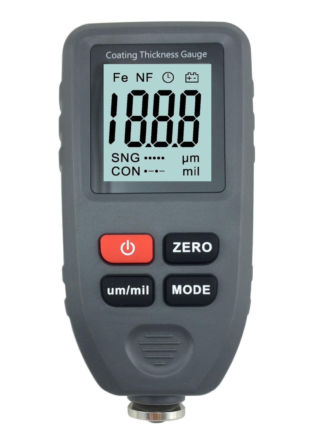 все цены на New Professional Digital Thickness Gauge Coating Meter Car Thickness Meter CT100 F &N Width Measuring Instruments Guage Meter онлайн