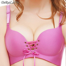 Seamless LBBra Gather Adjustable Women Bra