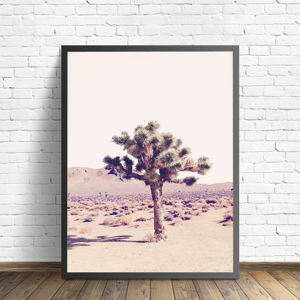 Joshua Tree Cactus Photography Art Canvas Poster Painting Arizona South Western Desert Wall Picture Print Home Room Decoration