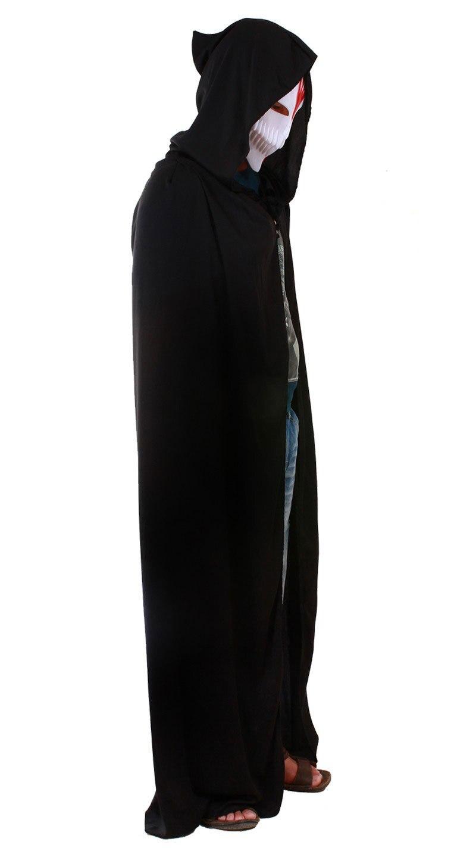halloween costumes mens adult long black death cloak masquerade