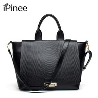 iPinee Popular 2018 Fashion Women's Bags Handbags Famous Brands Snake Grain Leather Messenger Bag