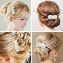 4/12pcs Pearl Hair Clip for Girls Vintage Elegant Korean Design Hairpin Barrettes Styling Accessories Women Wedding