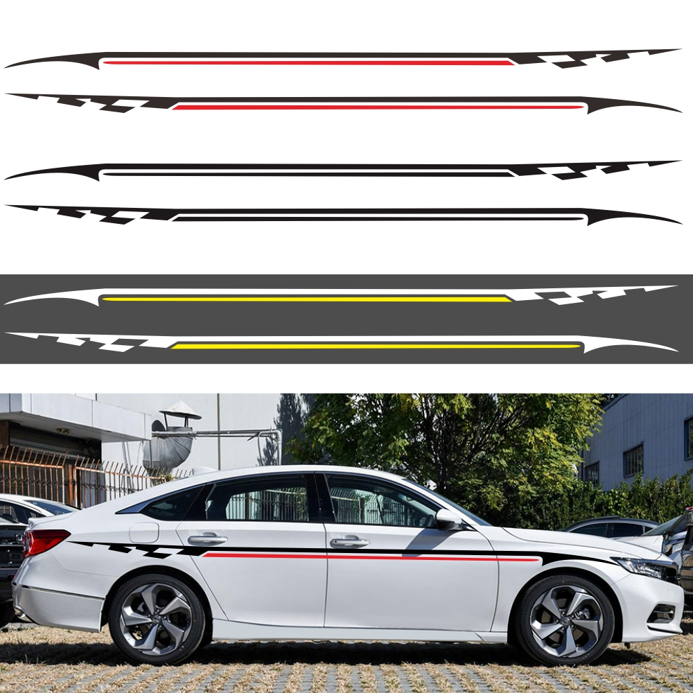 Vehicle Body Modification Waistline Sticker Car Body Racing Side Door Long Stripe Stickers Auto Vinyl Decal Personality Stickers
