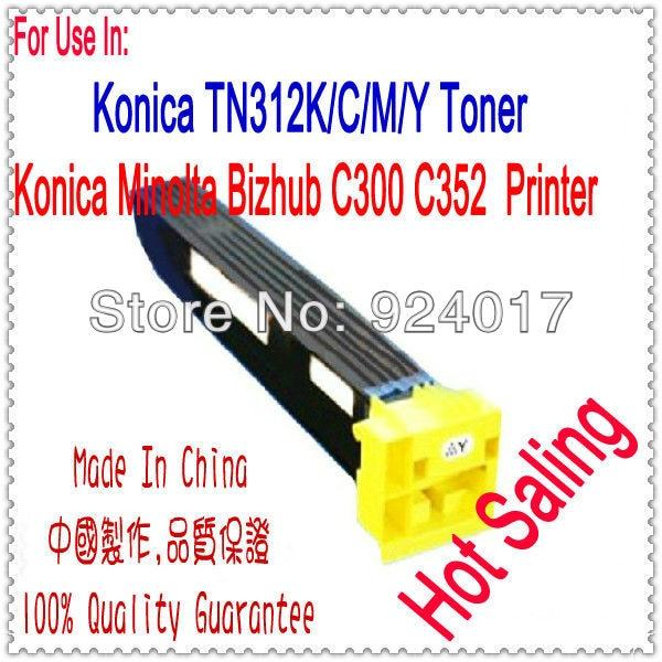 Compatible Toner For Konica Minolta Bizhub C300 C352 Laser Printer,TN312K C/M/Y Toner For Konica C300 C352 Toner,For Konica 300 tianse hot selling compatible color toner cartridge tn220 bk c m y used for konica minolta bizhub c221 221s 281 c7122 printer