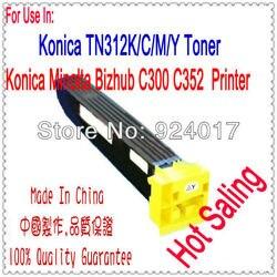 Dla Konica Minolta bizhub C300 C352 C352p kaseta z tonerem  dla Konica TN312K TN312C TN312M TN312Y 300 352 TN312 TN 312 z tonerem w Kasety z tonerem od Komputer i biuro na