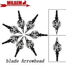 3/6/12pcs 100Gr Archery Blade Arrowhead Screw Hunting Broadheads Arrow Point Tips Outdoor Shooting Hunting Training Accessories цены