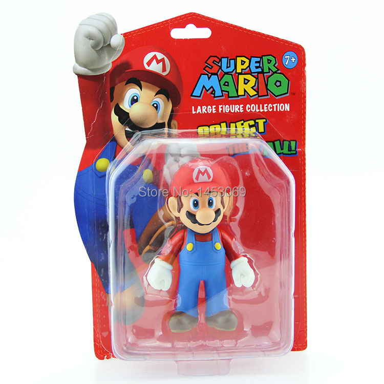 Classic Toys Super Mario Bros Character Mario PVC Action Figure Collection Model Toy Doll 5 12CM New in Retail Box anime one piece dracula mihawk model garage kit pvc action figure classic collection toy doll
