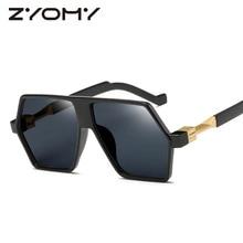 Brand Design Retro Sunglasses Men Reflective Frog Mirror Ove