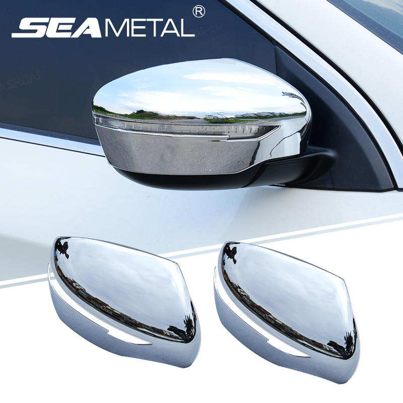 For Nissan Qashqai J11 Rogue X-Trail T32 2014 2015 2016 2017 Car Chrome Styling Rearview Mirror Exterior Covers AccessoriesFor Nissan Qashqai J11 Rogue X-Trail T32 2014 2015 2016 2017 Car Chrome Styling Rearview Mirror Exterior Covers Accessories