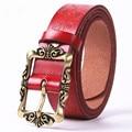 Cow genuine leather women belts luxury pin buckle belts for women cinto five colors cowhide belt  cintos feminino NB