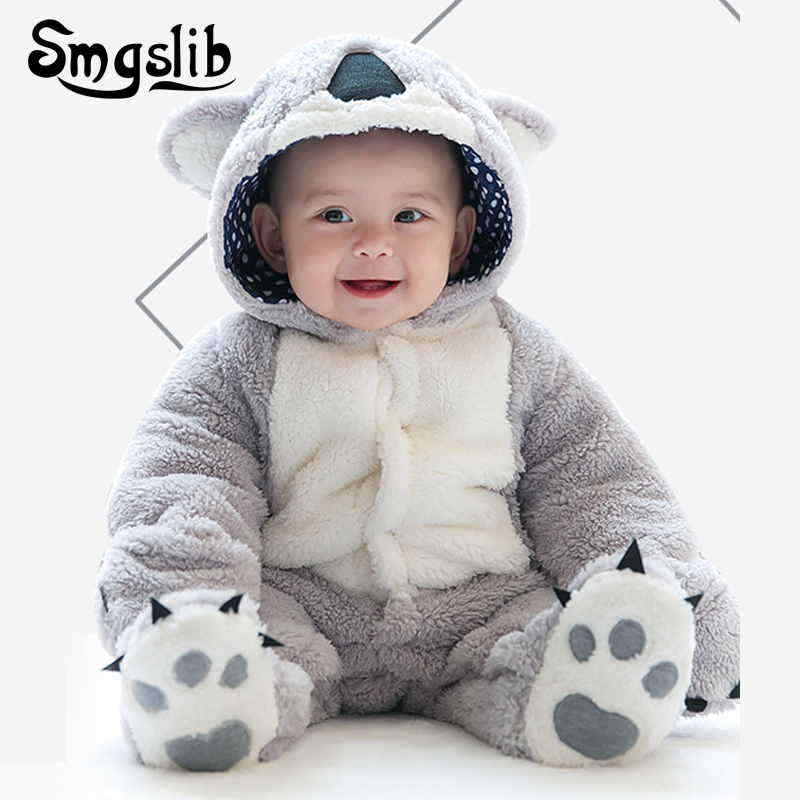 Smgslib newborn lucky child 2018Cartoon Infant Girl Boy Jumpers Kids Baby Outfits Clothes Slim thick winter coat Baby Clot