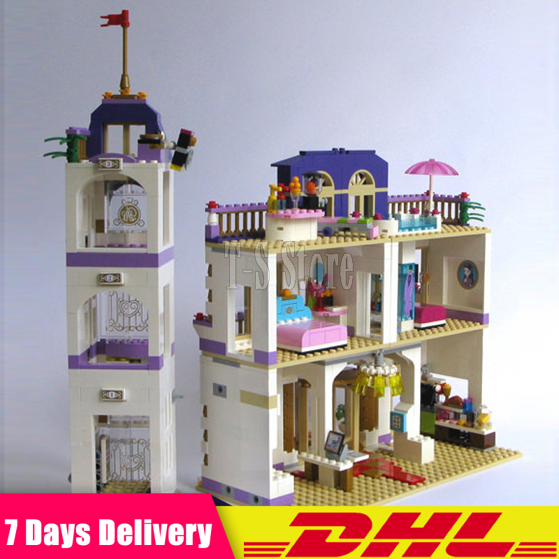 Clone 41101 DHL LEPIN 01045 1676 PCS Girl Series Heartlake Grand Hotel Model Building Blocks Toys Bricks Girl GiftFunny Toys lepin 01045 1676pcs girls series heartlake grand hotel set children eucational building blocks bricks toys model gift 41101