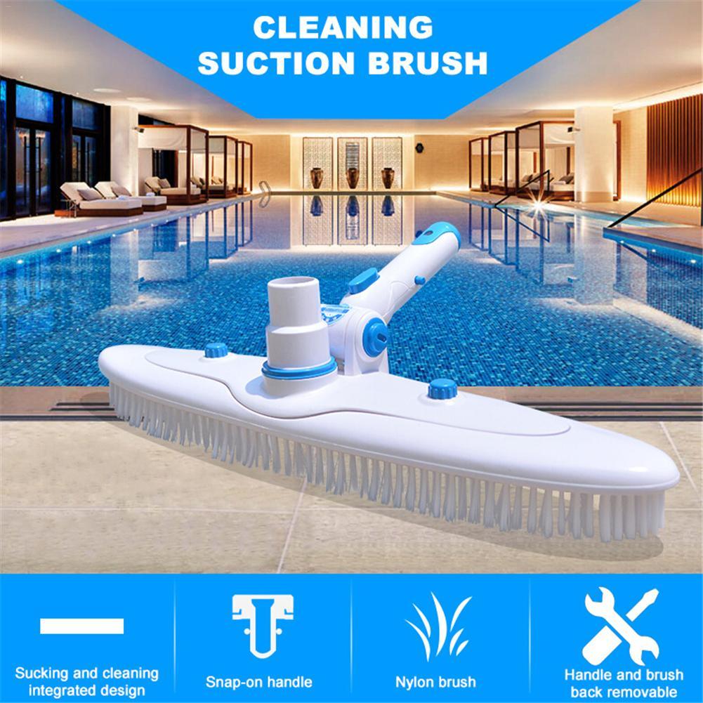 Brosse de nettoyage piscine Flexible nettoyeur piscine aspirateur tête Clip Angle réglable poignée piscine brosse de nettoyage
