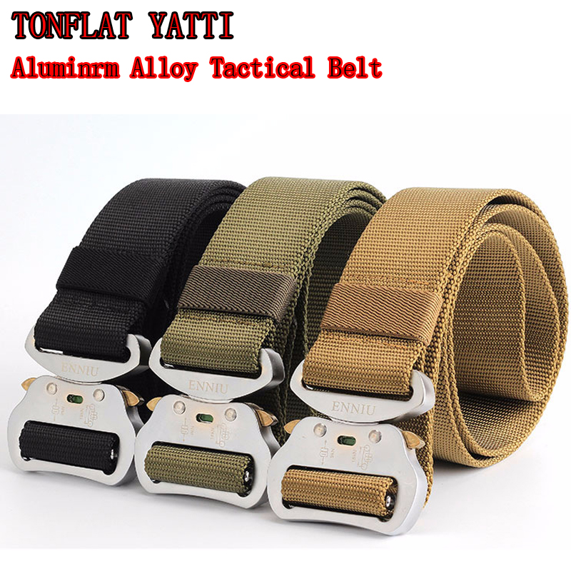2019 SWAT Combat Heavy Duty Knock Off Tactical Belt Men US Soldier Military Equipment Army Aluminrm Alloy Nylon Waistband 4.3 Cm