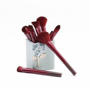 Image 3 - Jessup brushes 15pcs Winered Makeup Brushes Set Powder Foundation Eyeshadow Eyeliner Lip Contour Concealer Smudge Make up Brush