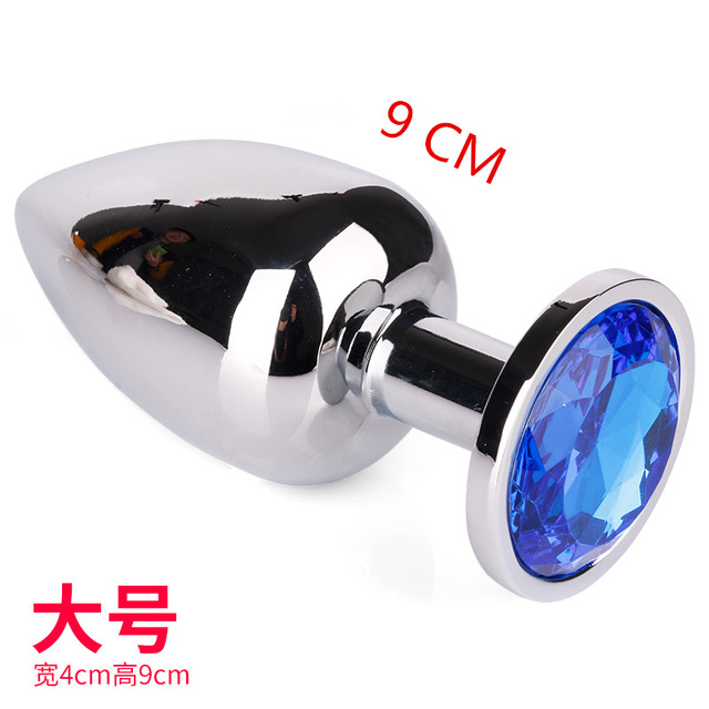 9040mm Big Size Stainless Steel Metal Butt Plug Toys Crystal Jewelry Metal Butt Plug