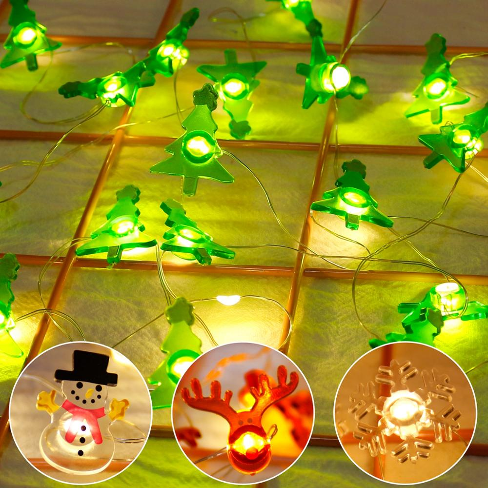 LED Light Battery Garden Garland Christmas Decoration For Home Outdoor Noel Navidad 2019 Christmas Ornaments Christmas Pendant in Pendant Drop Ornaments from Home Garden