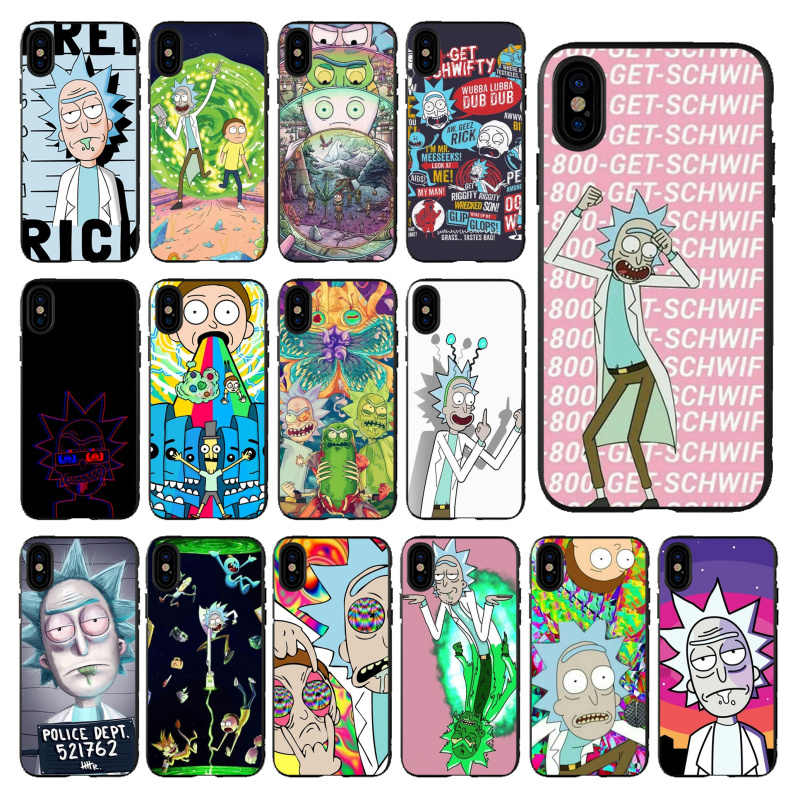 Babaite Rick And Morty  High Quality Luxury phone case for Apple iPhone 5 5S  6 6S 7 8 Plus X XS MAX SE XR Mobile Cover