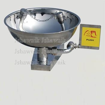 Free shipping 304 Stainless steelemergency wall mounted wash basin eye washer basin