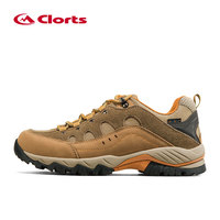 Clorts Hiking Shoes For Men Waterproof Hiking Boots Suede Leather Men Mountain Climging Shoes Outdoor Trekking