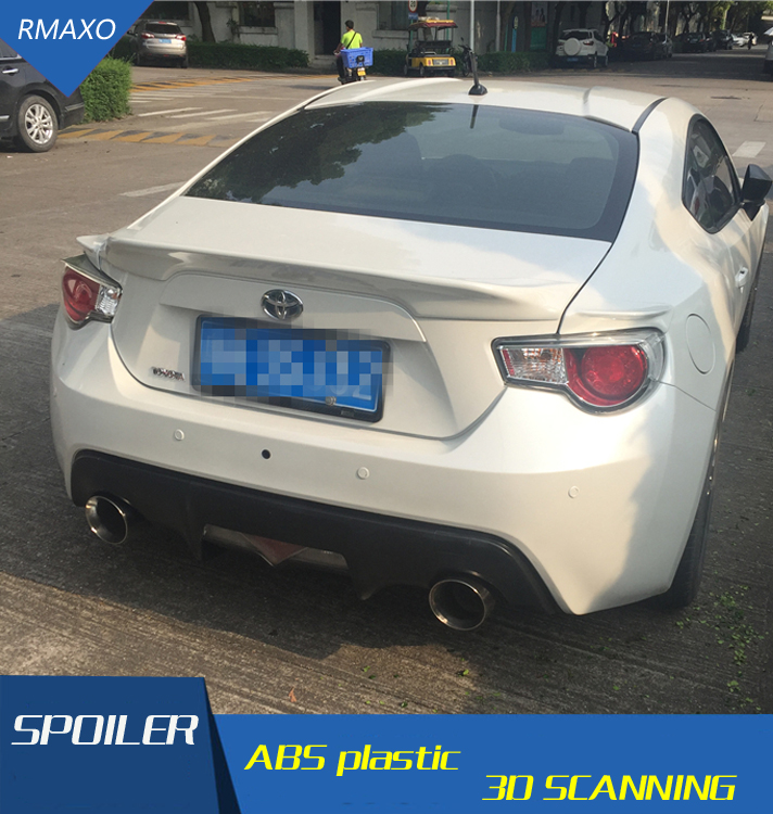 For GT 86 Spoiler 2016 2018 Subaru BRZ Spoiler ABS Material Car Rear Wing Primer Color
