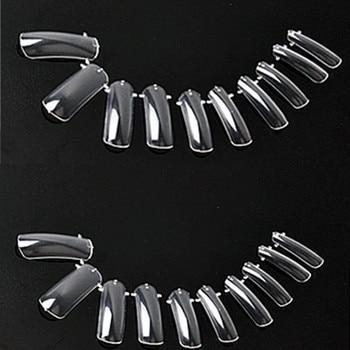 MAKARTT 10Packs/Lot  Dual Nail System Form for UV Acrylic Nail Art Tip 500 pcs Clear False Nails Hot Selling A0035X