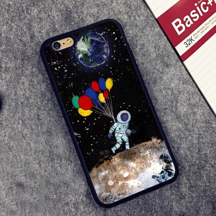 Univers Planète Astronautes Conception Coque téléphone couverture de Cas pour l'iphone 5 5S SE 5C