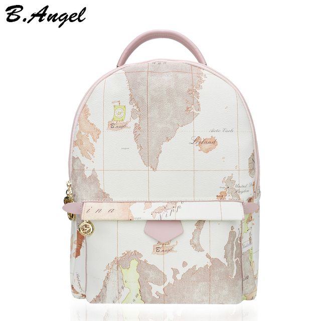 Designer backpack women high quality world map backpack women small designer backpack women high quality world map backpack women small vintage leather women bag travel backpack gumiabroncs Images