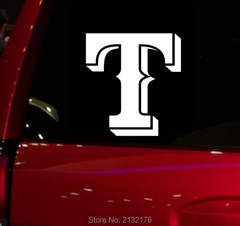 Rangers baseball game Auto Window Sticker Decal for Car Truck Suv Decal 5.5 Car Window Vinyl Die Cut Sticker White