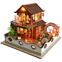 CUTEBEE Kids Toys Doll House Furniture Assemble Wooden Miniature Dollhouse Diy Dollhouse Puzzle Educational Toys For Children TB cutebee pretend play furniture toys wooden dollhouse furniture miniature toy set doll house toys for children kids toy new house
