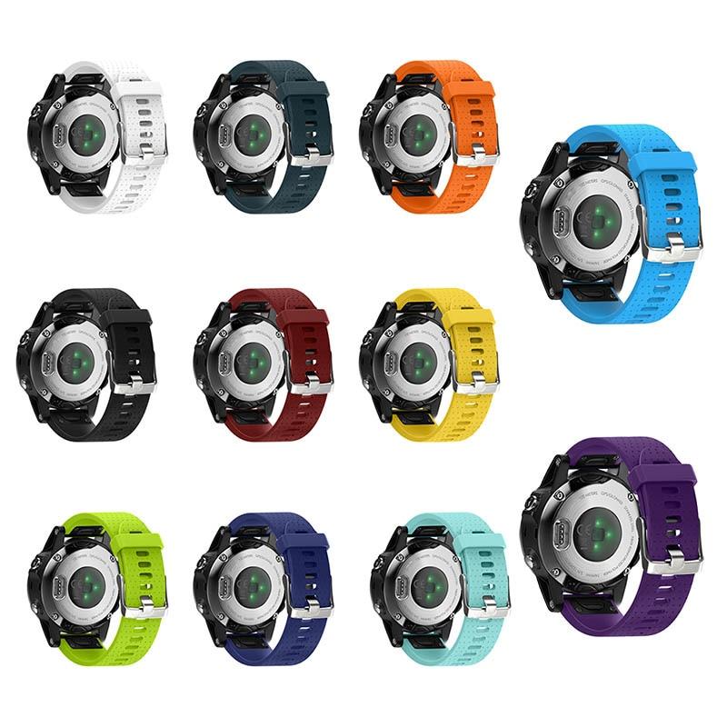 20mm Molle Del Silicone Watch Band Strap Con Fibbia Smontato Cinturino Adatto Per Garmin Fenix 5 S GDeals