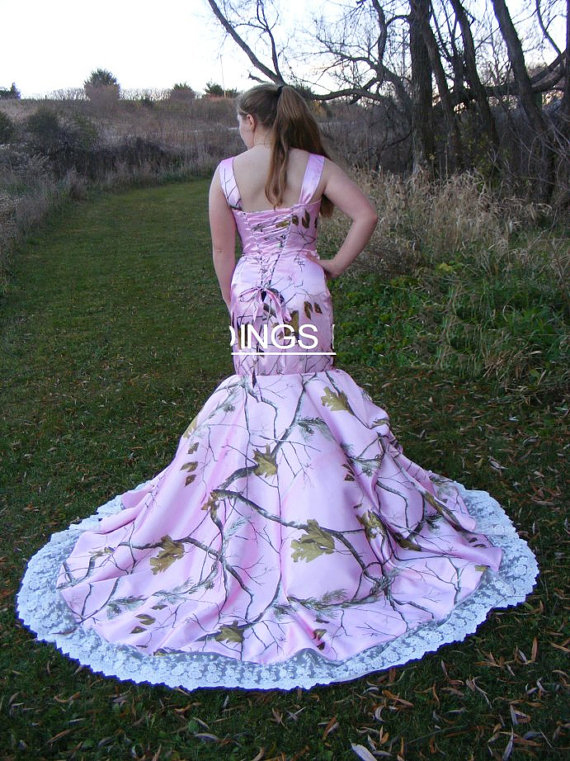 Straps realtree camouflage kleider rosa camo brautkleider 2017 ...