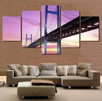 5 Pcs Canvas Painting Landscape Oil Painting By Numbers Frameless Painting Print Wall Hanging Art Pictures